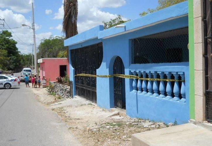 Los plagiarios pedían 3 mdp por Diego Mena Silva, quien logró escapar de esta casa en el fraccionamiento San Isidro, en Valladolid. (SIPSE)
