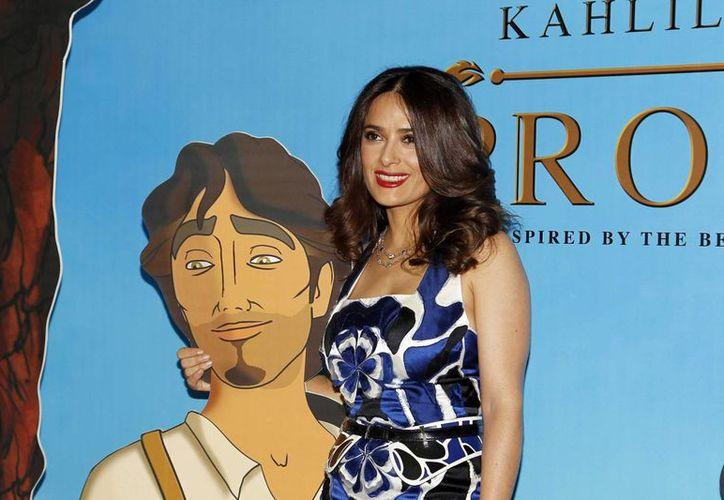 'El Profeta', producción de Salma Hayek que llega a los cines en enero del año próximo, es un filme en el que ella presta su voz e incluye un poema de su hija Valentina. (elsemanarionews.com)