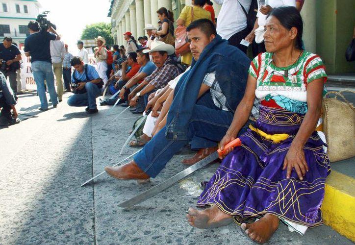 Señalan que indígenas reciben hasta 50 pesos por 12 horas de trabajo. (Notimex)