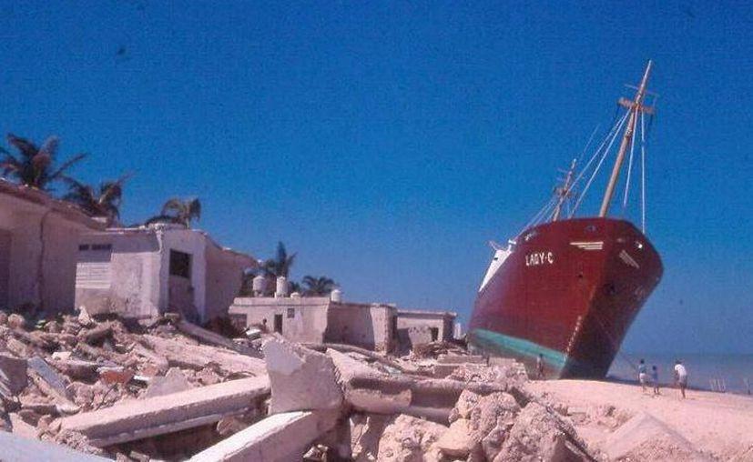 Este semana se cumplen 31 años de la llegada del huracán Gilberto, a Yucatán. (Imagen de archivo)