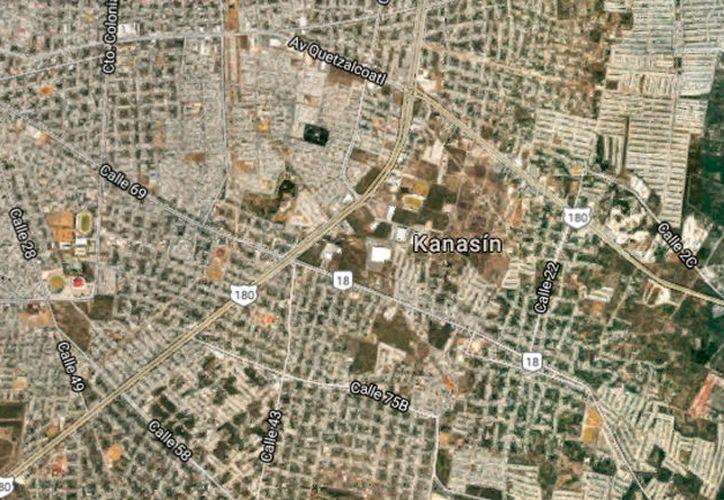 Vista aérea de Kanasín, utilizada sólo con fines ilustrativos. En ese municipio falleció un bebé, este domingo. Se asfixió con una gasa, tras ser operado. (Google Street View)