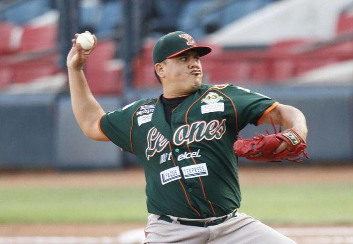 Jesús Aurelio Rodríguez, abridor de Leones para esta noche en Cancún. (Milenio Novedades)