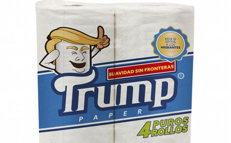 Lanza un mexicano papel higiénico marca Trump