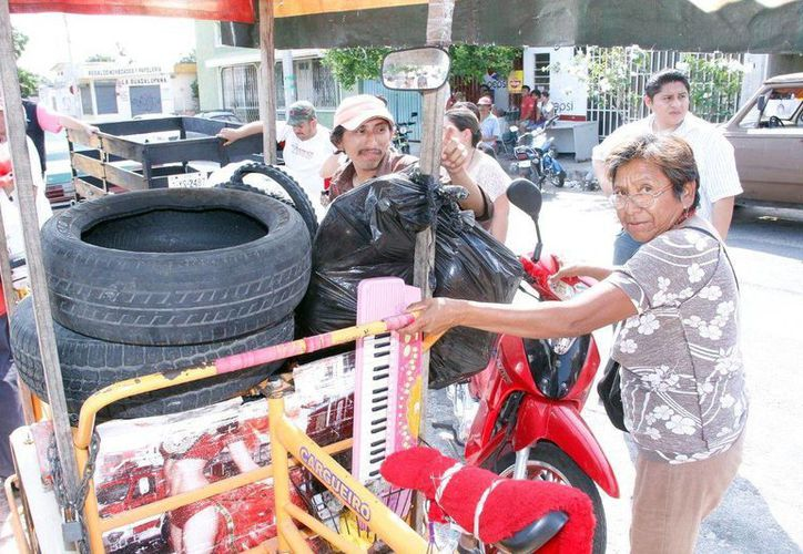 La gran participación de la ciudadanía ha sido la base del éxito de la campaña de reciclaje. (SIPSE)