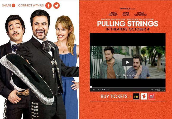 """Pantelion Films ahora apuesta por la comedia """"Pulling Strings"""", protagonizada por Jaime Camil, Laura Ramsey y Omar Chaparro. (Facebook oficial)"""