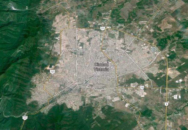 Imagen tomada de Google Earth de la capital de Tamaulipas, ciudad en la que se han duplicado el número de homicidios violentos.