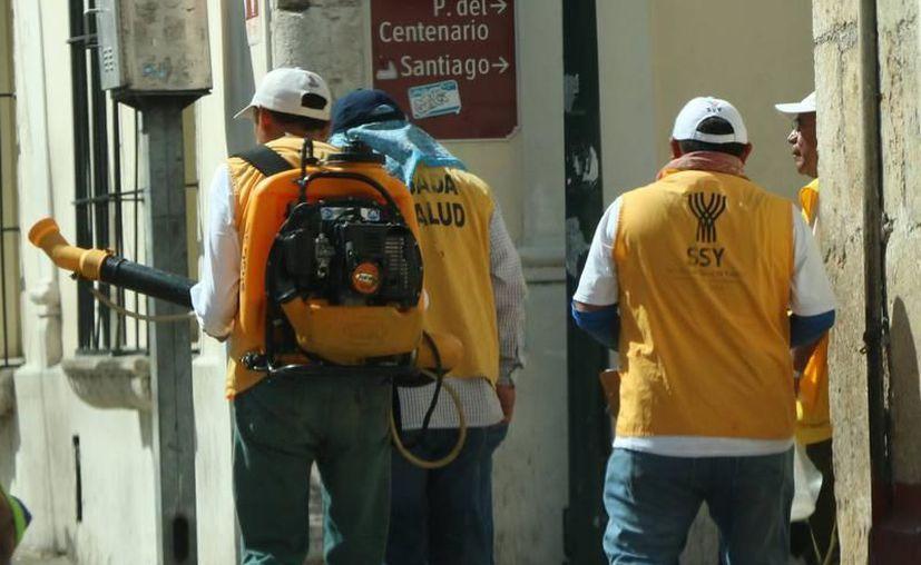 Se reforzarán las acciones de saneamiento básico como la fumigación y limpieza de patios. (Foto: Contexto/SIPSE)