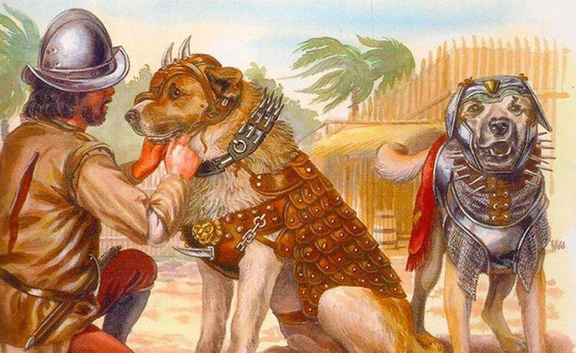 Los conquistadores españoles tenían en sus perros a verdaderos azotadores de la población indígena de América. El más célebre de ellos, 'Becerillo', fue muerto por los indígenas mayas. (actualidad.rt)