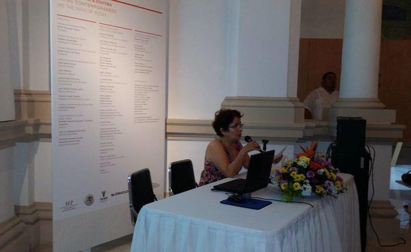 La investigadora del Centro INAH, Blanca González Rodríguez, expuso sobre la historia del Palacio Cantón. (Milenio Novedades)