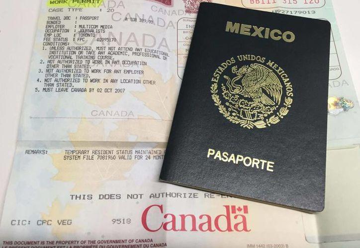 Los mexicanos que quieran viajar a Canadá para estudiar o trabajar deben tramitar una visa. (Notimex)
