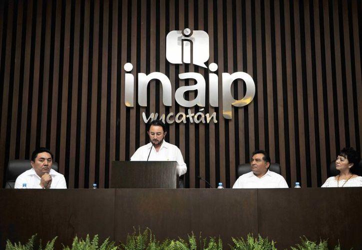 El informe del presidente del Inaip, Alvaro Traconis Flores. (Cortesía)
