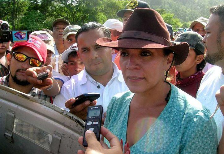 Xiomara Castro, candidata por el LIBRE, partido con que se identifica Lazo. (Agencias)