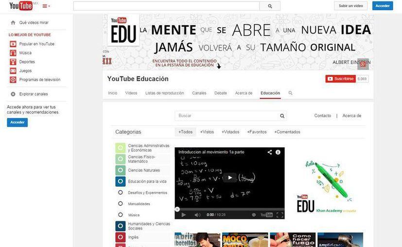 YouTube Edu tiene más de 22 mil 500 videos que incluyen clases de inglés, música, matemáticas, literatura, entre otros. (Youtube.com)