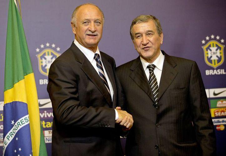 Scolari hará mancuerna con Carlos Parreira, campeón mundial en 1994 y coordinador de la selección nacional. (Agencias)