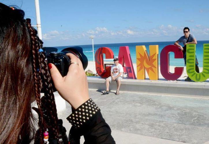 El Parador Fotográfico se ubica en Playa Delfines. (Victoria González/SIPSE)