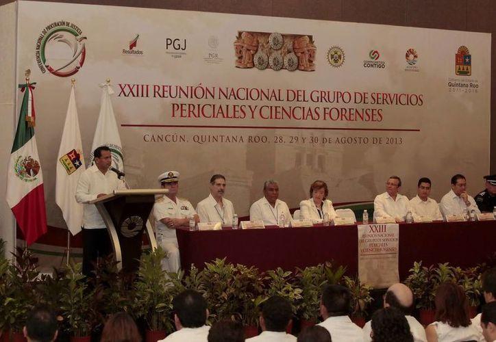 La XXIII Reunión Nacional del Grupo de Servicios Periciales y Ciencias Forenses se llevó a cabo en Cancún. (Archivo/SIPSE)