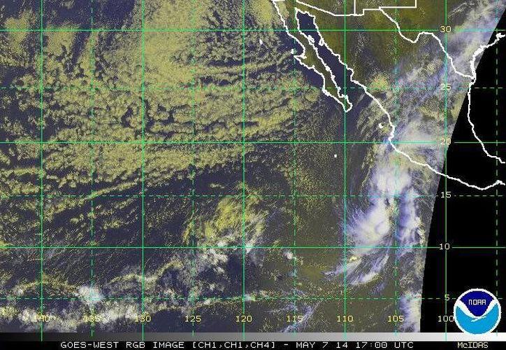 La formación de la depresión tropical se da a una semana de que empiece de manera oficial la temporada de huracanes en el país. (ssd.noaa.gov)
