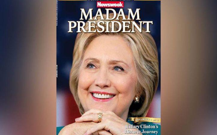 """Imágenes de la edición con una foto de Clinton con el título """"Señora Presidenta"""" en la portada se filtraron antes de los comicios del 8 de noviembre. (New York Post)"""