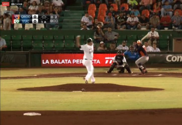 Leones vinieron de atrás para ligar su cuarto éxito a costa de los Tigres de Quintana Roo, 10-6. (Captura de pantalla)