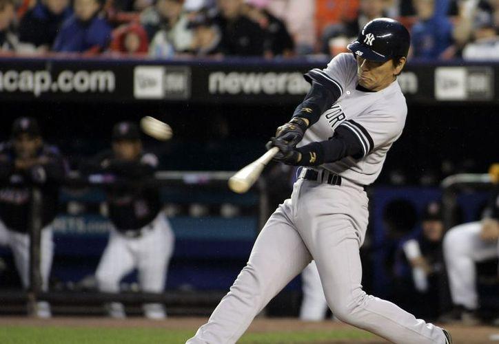 Matsui llegó a Nueva York después de una temporada en la que bateó 50 vuelacercas. (Agencias)