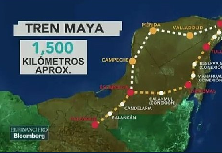 López Obrador afirmó que para construir el Tren Maya no se derribarán árboles. (Foto: Twitter)