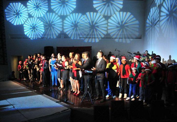 """Imágenes del concierto """"Un Canto de Esperanza"""". (Cortesía/SIPSE)"""