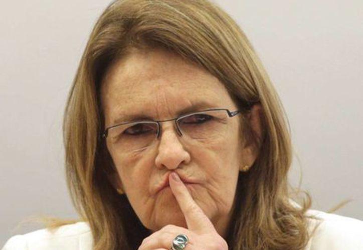 Foto de archivo de Maria das Gracas Foster, presidenta de Petrobras, quien renunció este miércoles a causa de un escándalo de corrupción. (AP)