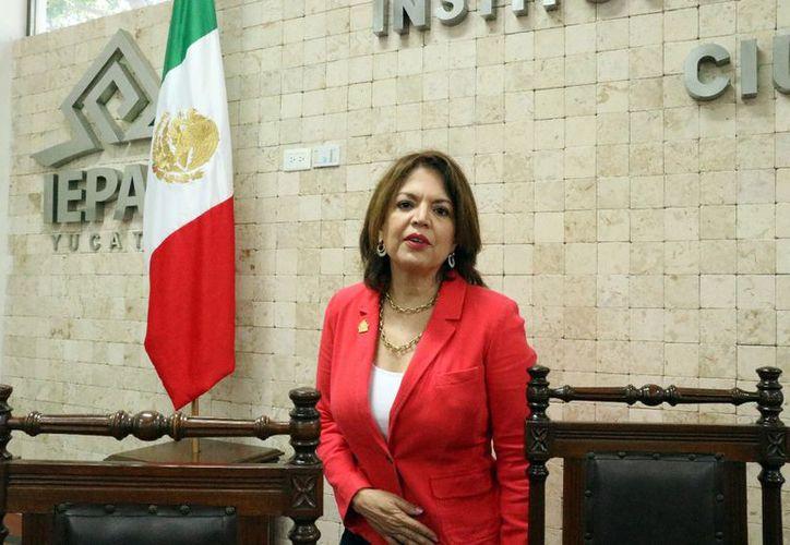 En imagen, la consejera presidenta del Iepac, María de Lourdes Rosas Moya. quien es acusada de daño patrimonial. (Milenio Novedades)