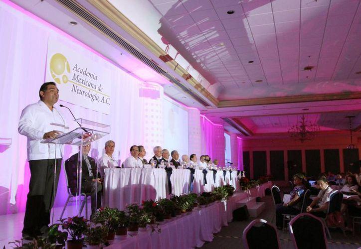 La inauguración del Congreso Anual de la Academia Mexicana de Neurología. (Cortesía)