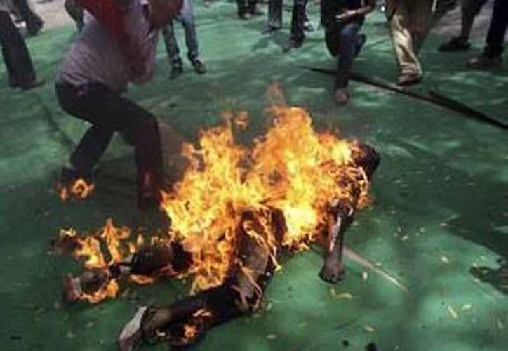 Las inmolaciones como acto de protesta de los tibetanos en contra de China se vuelven cada día más frecuentes (Internet).
