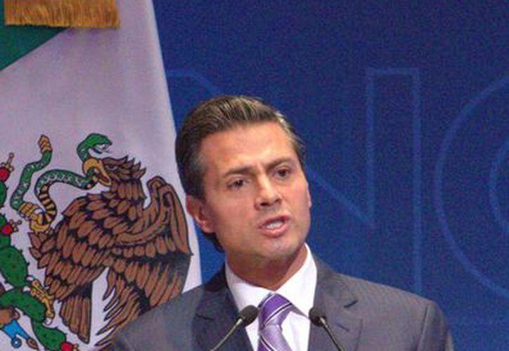 Peña Nieto aseguró que las reformas impulsadas por su gobierno están creando mejores condiciones económicas en el país. (Notimex)