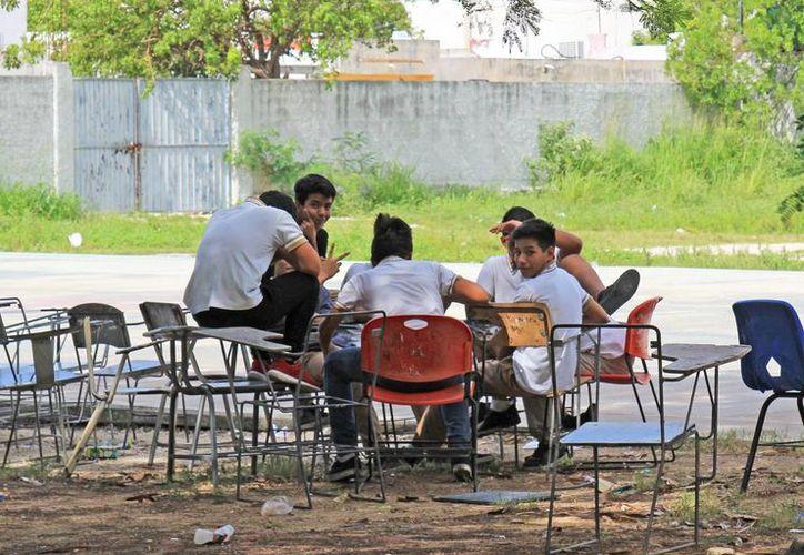 En esta escuela la inversión fue de un millón 600 mil pesos. (Jesús Tijerina/ SIPSE)