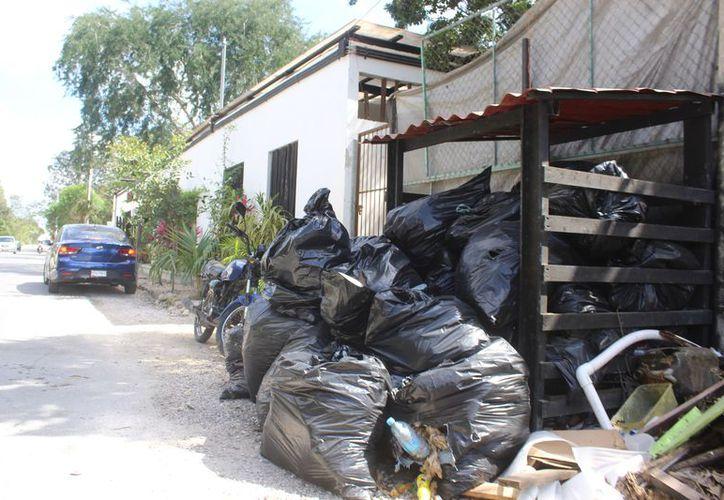 Ante la descompostura de tres camiones, hay un atraso de dos a tres días en la recolección de basura. (Sara Cauich)