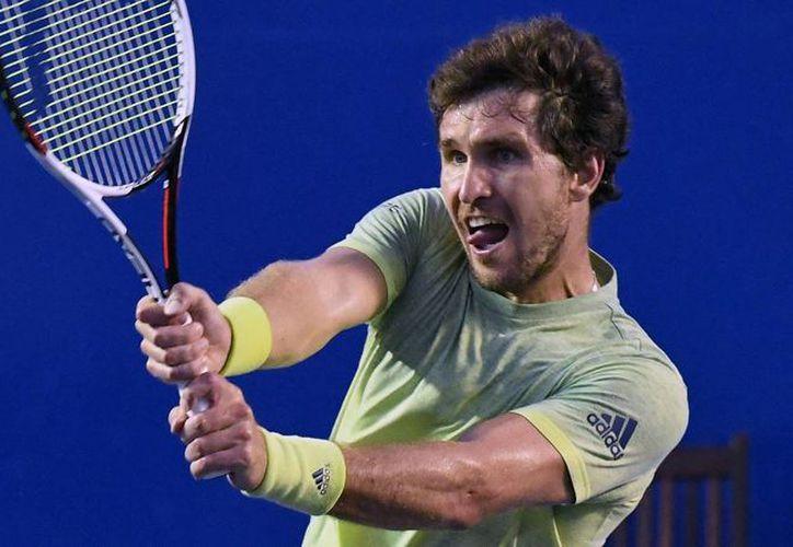 El alemán Mischa Zverev perdió ante el argentino Juan Martín del Potro en dos sets con parciales de 6-1 y 6-2. (Foto: AFP)
