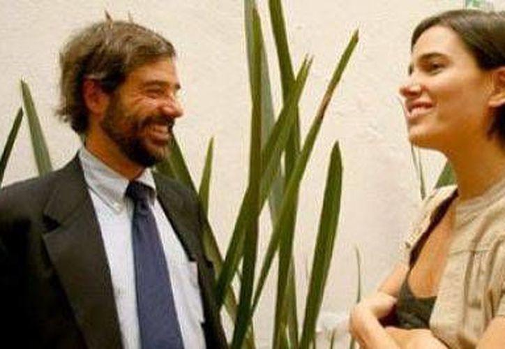 Juan García de Oteyza con Alexandra García Ponce. (Milenio)