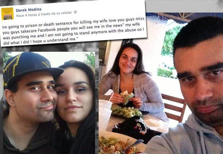Derek publicaba fotos en las que aparecía con Jennifer y la hija de ésta, como si fueran una familia feliz. (Foto: Especial)
