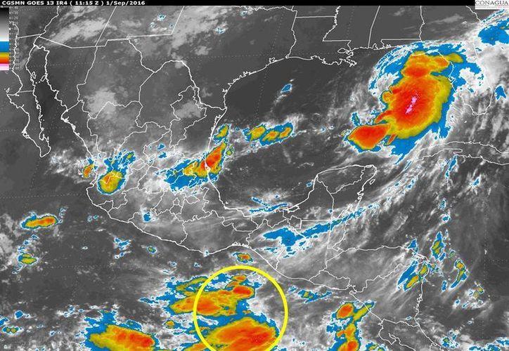 El Servicio Meteorológico Nacional indicó que el fenómeno climático se encuentra semiestacionario. (smn.conagua.gob.mx)