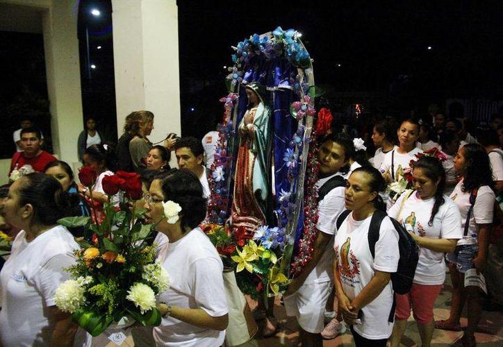 Los antorchistas que veneran a la virgen de Guadalupe serán protegidos por Protección Civil. (Octavio Martínez/SIPSE)