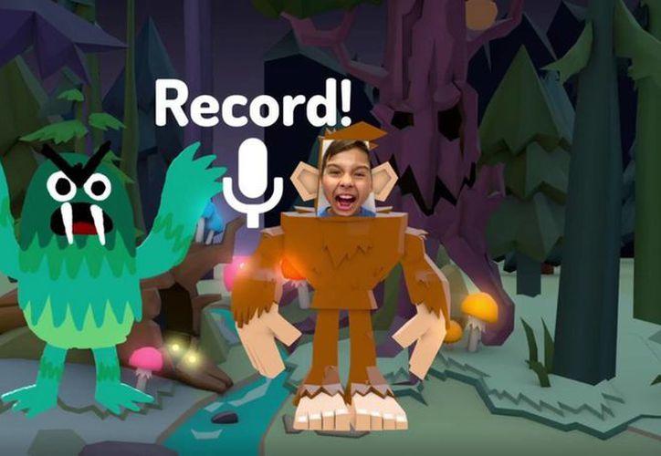 La nueva app Toontastic 3D tiene herramientas de dibujo en tercera dimensión y un laboratorio de ideas con ejemplos de diversas historias que inspiren las creaciones de los niños. (Captura de pantalla/toontastic.withgoogle.com)