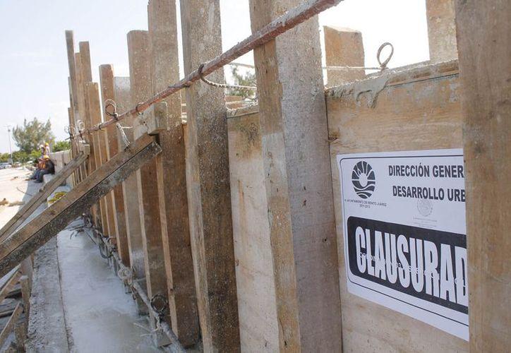 Obra clausurada por el Ayuntamiento de Benito Juárez tiene un 80% de avance. (Jesús Tijerina/SIPSE)