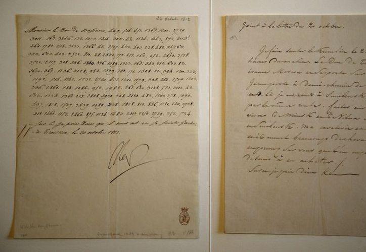 La carta que será subastada es un inusual documento firmado como Nap de propia mano de Napoléon y escrito en código. (Agencias)