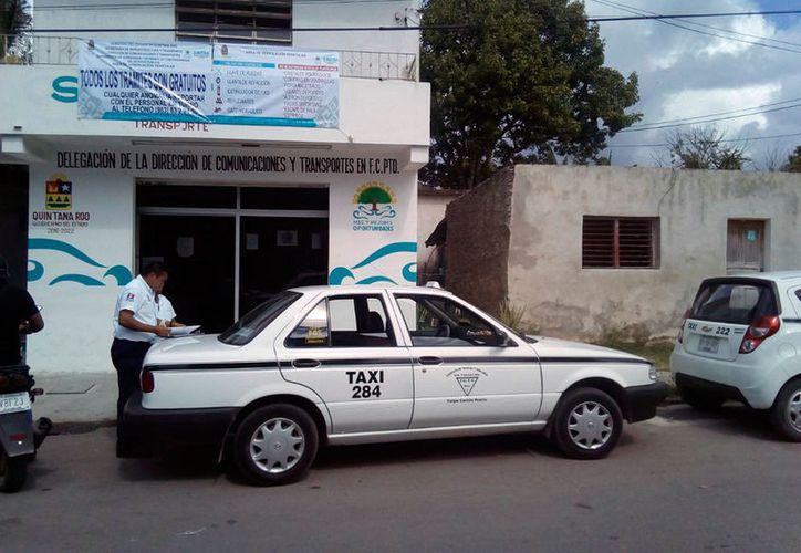 La Sintra aseguró que se había exhortado al dueño de taxi a cumplir con los acuerdos. (José Chí/SIPSE)