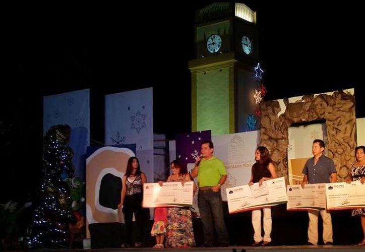 """La premiación se efectuó en el parque """"Benito Juárez"""". (Cortesía/SIPSE)"""