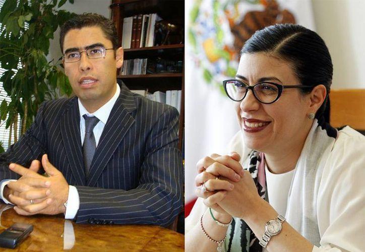 Imagen de Osvaldo Eduardo Santín Quiroz y Vanessa Rubio, quienes fueron propuestos por el presidente Peña Nieto. (Agencias)