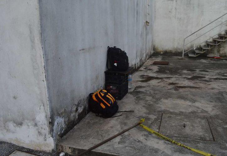 Las pertenencias que dejó el ahora occiso. (Eric Galindo/SIPSE)
