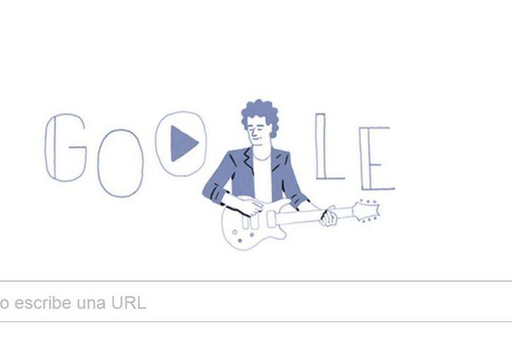El 'doodle' de Google celebra el nacimiento de Gustavo Cerati, quien falleció este año en circunstancias que apenas se están dando a conocer. (Captura de pantalla)