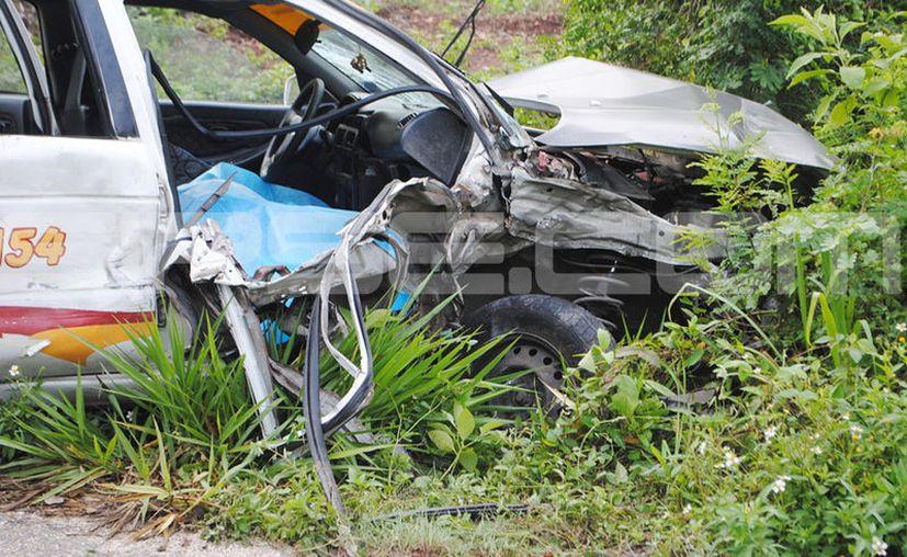La joven maestra de 28 años falleció debido a un fuerte golpe en la frente que se llevó debido al impacto. (SIPSE)