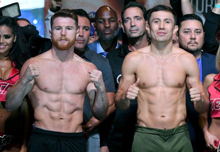 Por una suspensión de un año, la pelea entre Canelo Álvarez y Genndy Golovkin podría cancelarse.  (Foto: Televisa)