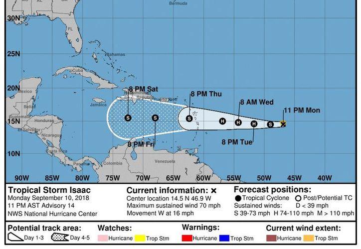 El fenómeno entrará muy debilitado al Mar Caribe. (Internet)