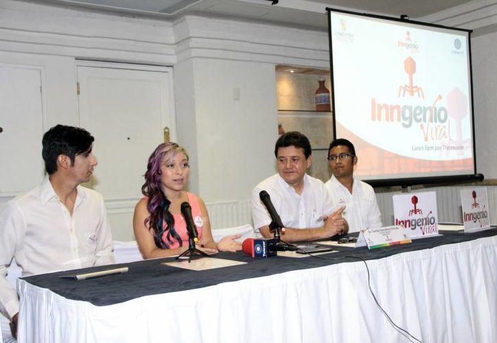 Imagen de la rueda de prensa donde los organizadores hablaron del  proyecto 'Inngenio Viral'. (Jorge Acosta/SIPSE)